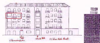 Plano del edificio y situación de  la casa