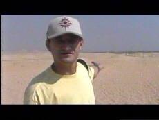 Pedro Amorós durante un rodaje en Egipto