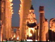 Vista del templo de Luxor